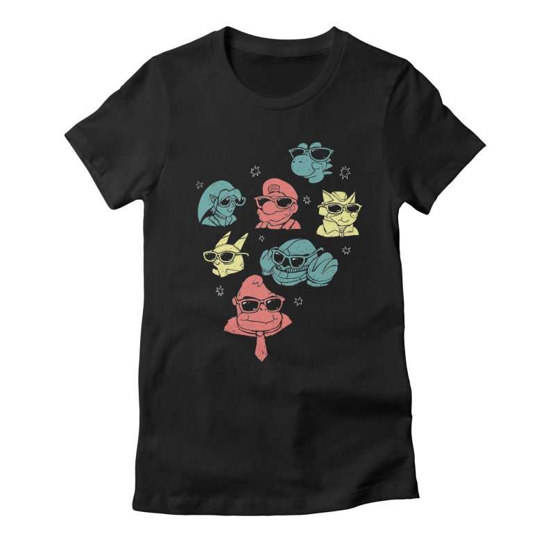Super Style Bros. Women's Fitted T-Shirt by ronanlynam's Artist Shop
