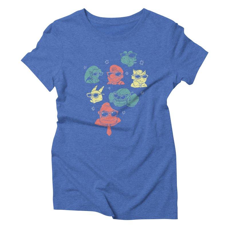 Super Style Bros. Women's Triblend T-shirt by ronanlynam's Artist Shop
