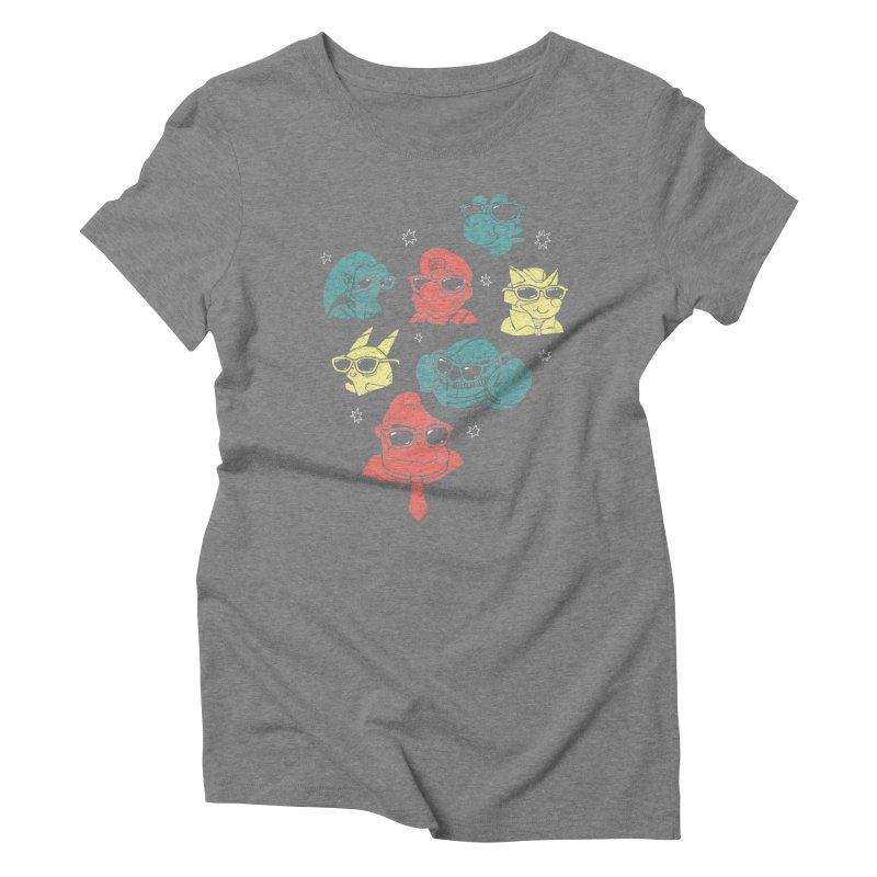 Super Style Bros. Women's Triblend T-Shirt by ronanlynam's Artist Shop