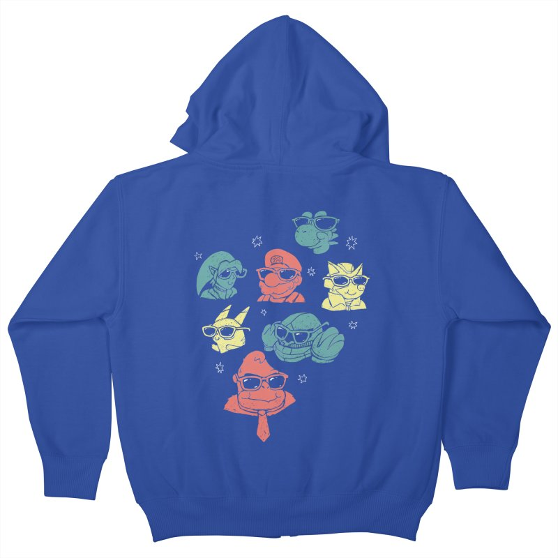 Super Style Bros. Kids Zip-Up Hoody by ronanlynam's Artist Shop