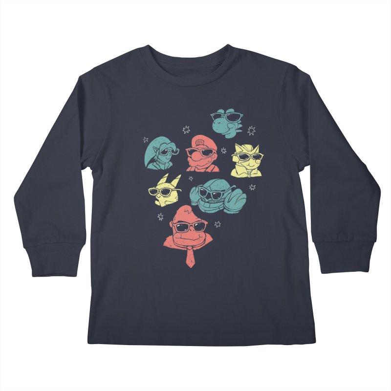 Super Style Bros. Kids Longsleeve T-Shirt by ronanlynam's Artist Shop