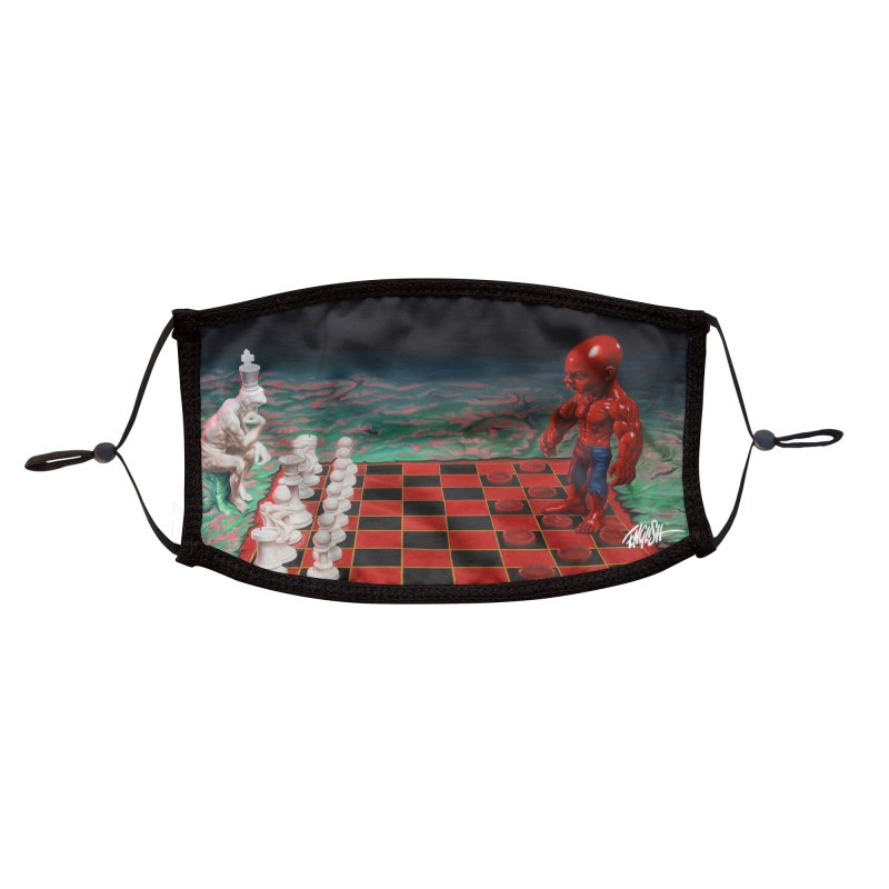 Checkers VS Chess Accessories Face Mask by Ron English