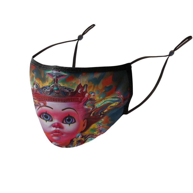 King Combrat Accessories Face Mask by Ron English