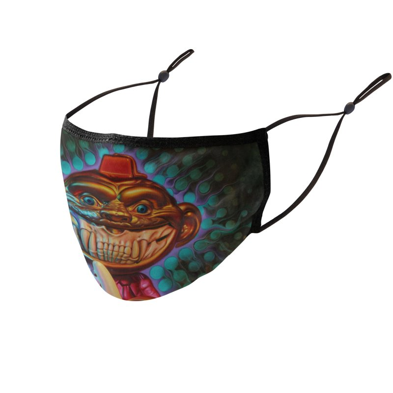 monkey Shiner Grin Accessories Face Mask by Ron English