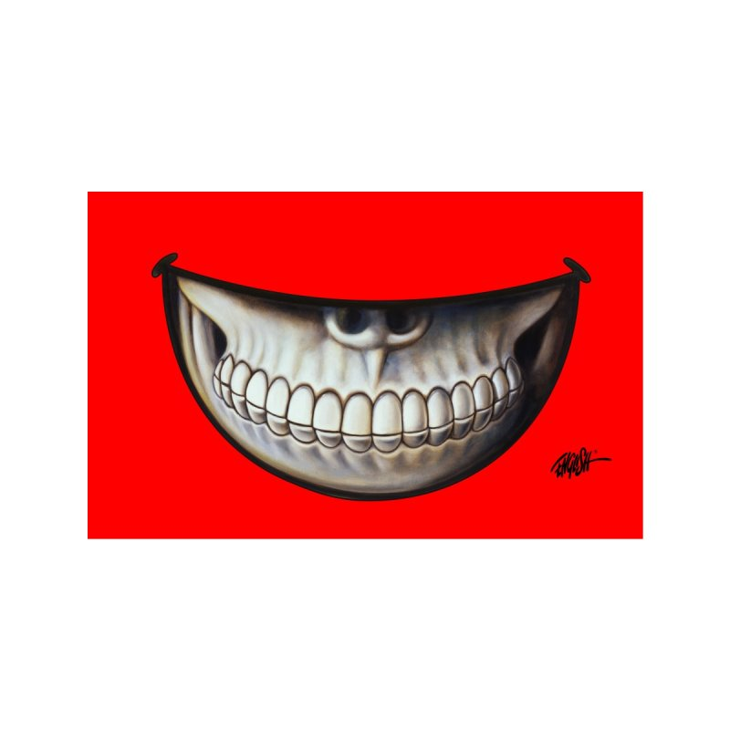 Grin 2 Accessories Face Mask by Ron English
