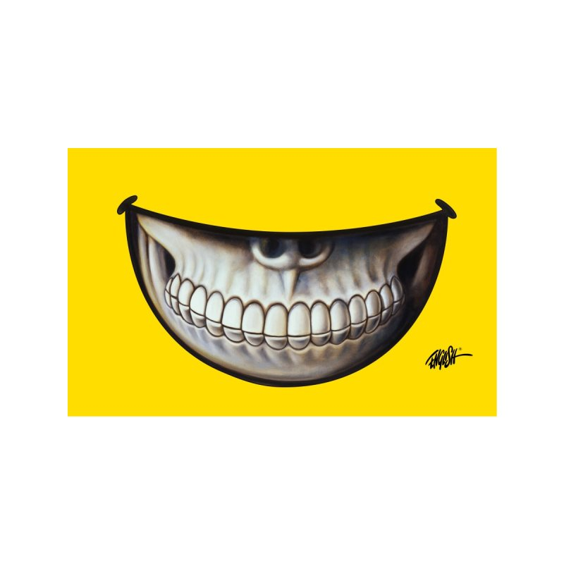 Grin 3 Accessories Face Mask by Ron English