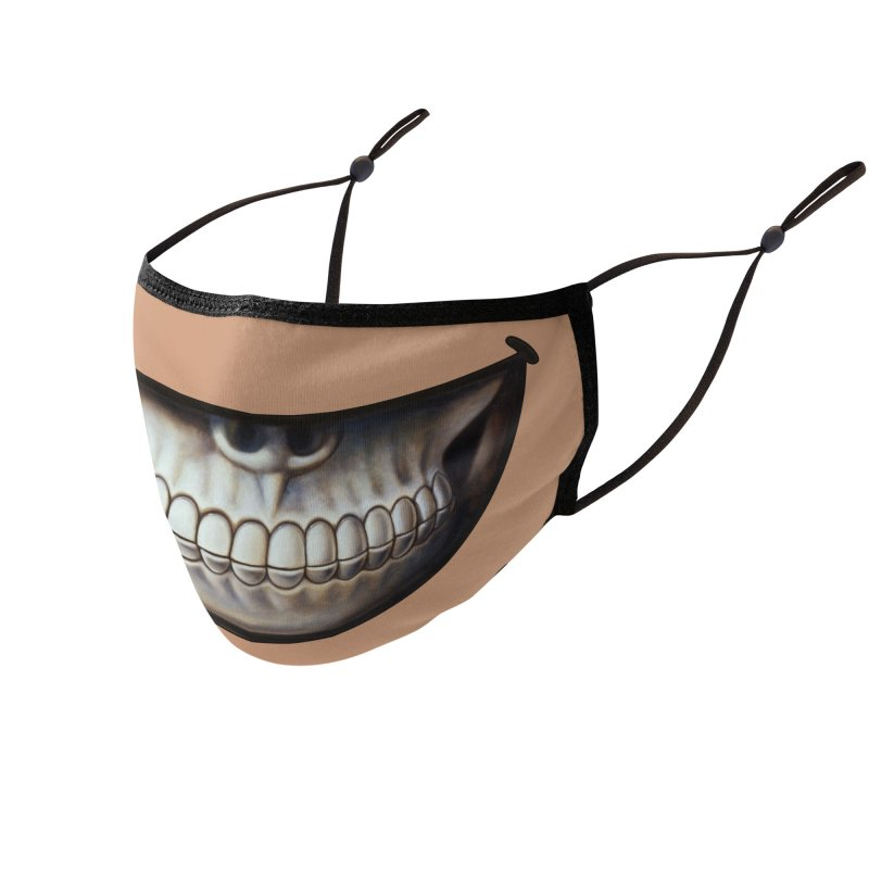 Grin 5 Accessories Face Mask by Ron English