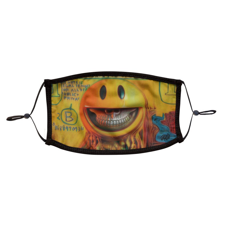 Basquiat Mona Lisa Grin Accessories Face Mask by Ron English