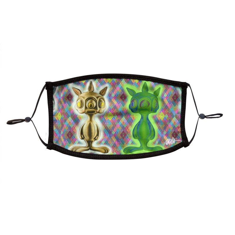 Rabbbits Accessories Face Mask by Ron English