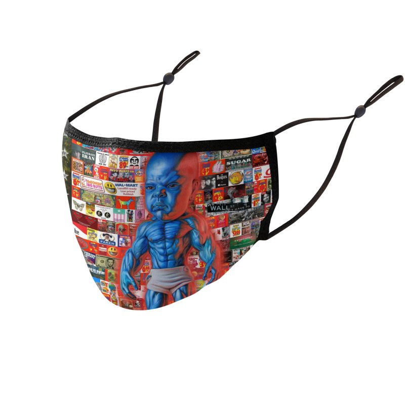 Galaxy Houston Station flag Accessories Face Mask by Ron English