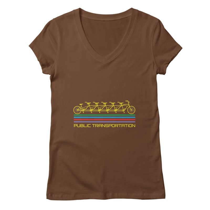 Publik trans Women's V-Neck by ronnyroom's Artist Shop