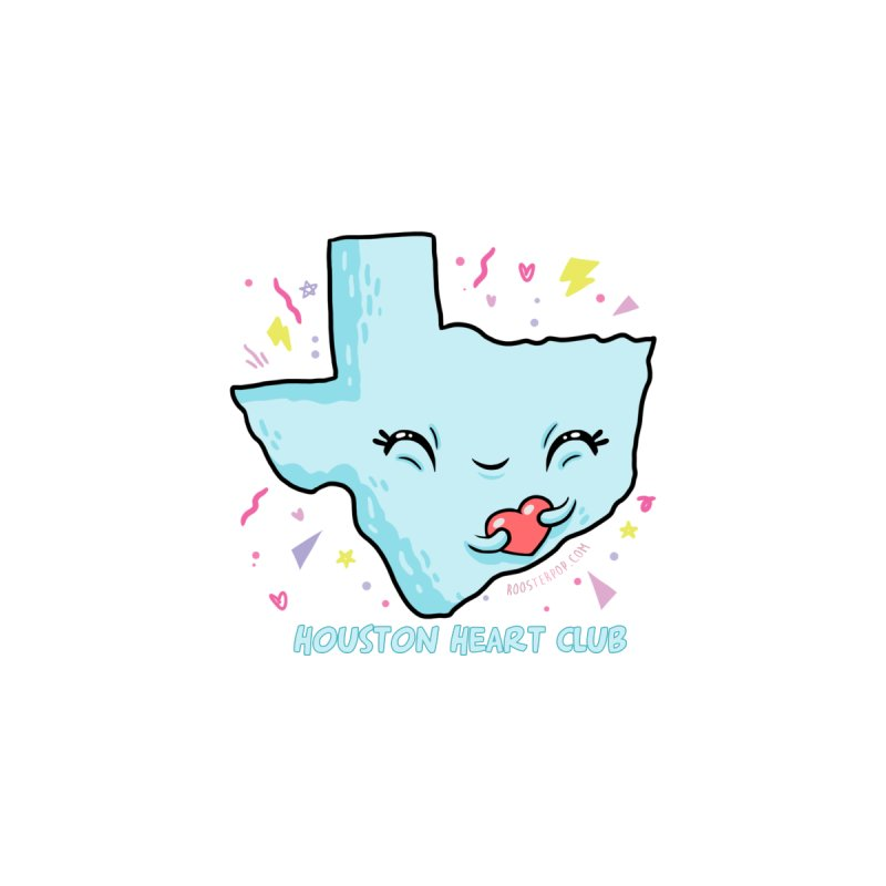 Houston Heart Club Blue by RoosterPOP's Artist Shop