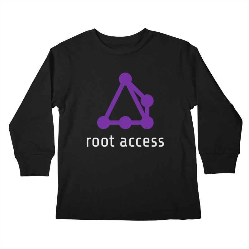 Root Access Kids Longsleeve T-Shirt by Root Access Hackerspace