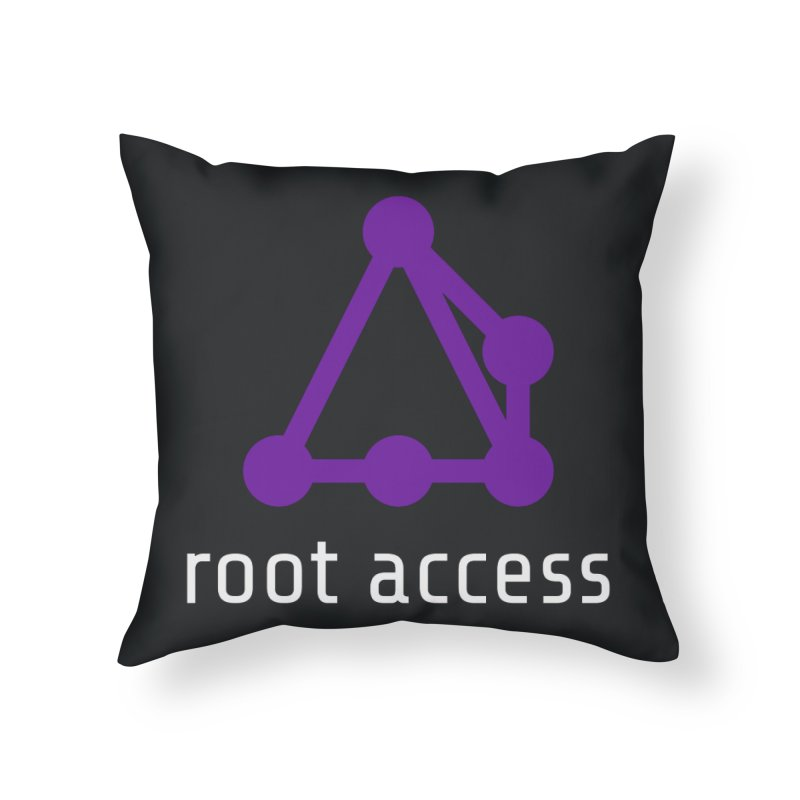 Root Access Home Throw Pillow by Root Access Hackerspace