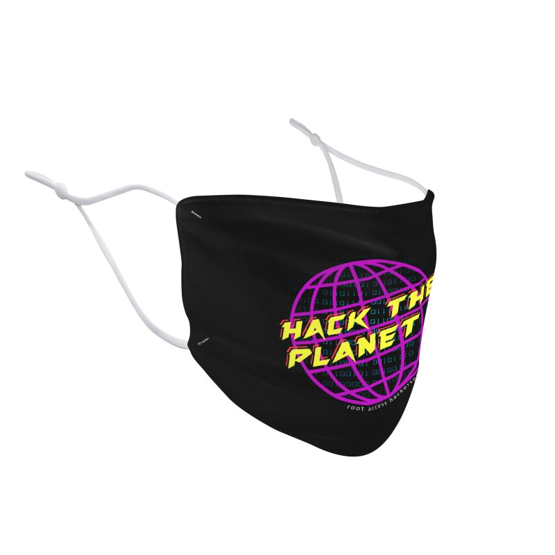HACK THE PLANET Accessories Face Mask by Root Access Hackerspace