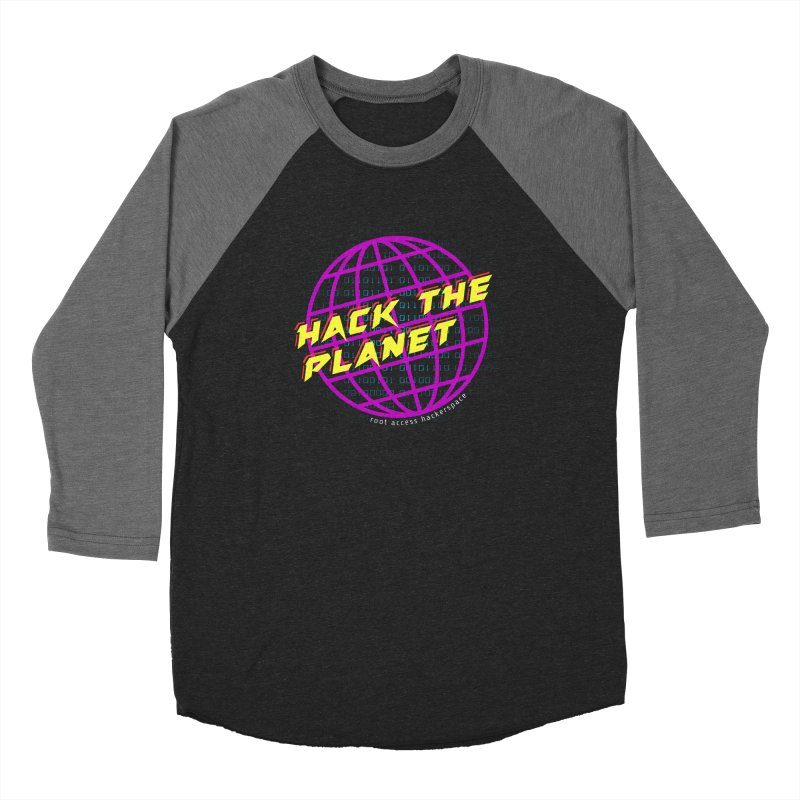 HACK THE PLANET Women's Longsleeve T-Shirt by Root Access Hackerspace
