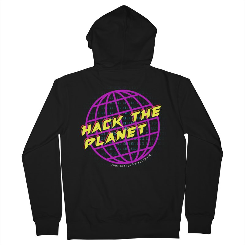 HACK THE PLANET Men's Zip-Up Hoody by Root Access Hackerspace