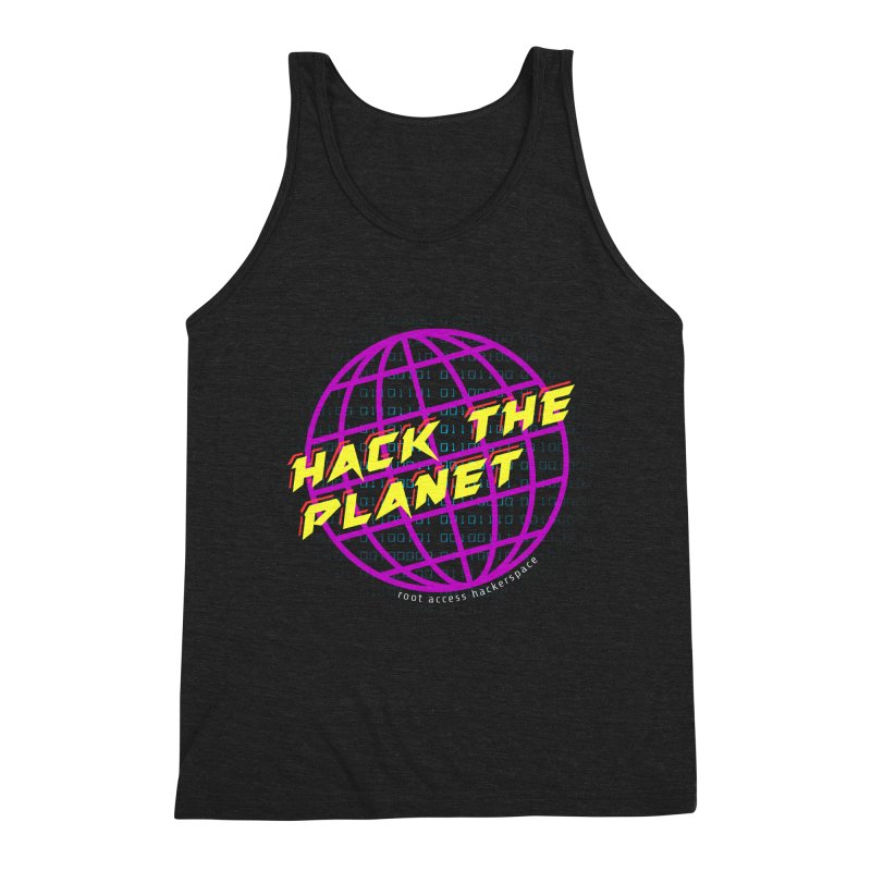 HACK THE PLANET Men's Tank by Root Access Hackerspace