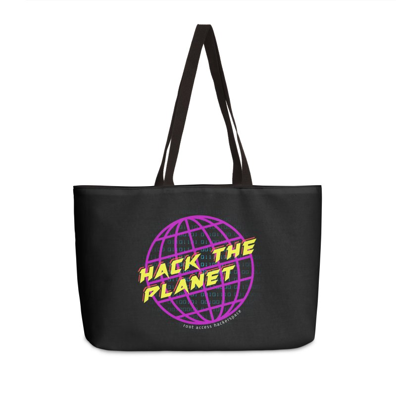 HACK THE PLANET Accessories Bag by Root Access Hackerspace