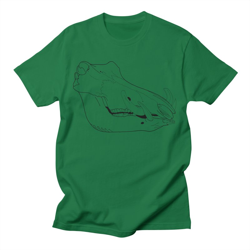 Warthog Skull Men's T-Shirt by rootinspirations's Artist Shop