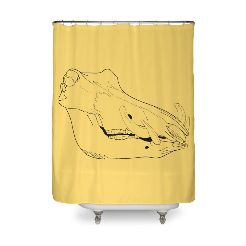 Warthog Skull Home Shower Curtain by rootinspirations's Artist Shop