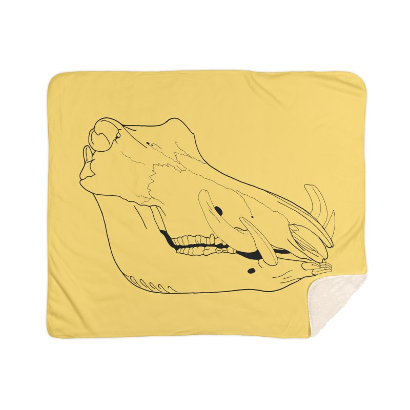 Warthog Skull Home Blanket by rootinspirations's Artist Shop
