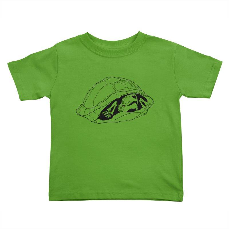 Box Turtle Skeleton Kids Toddler T-Shirt by rootinspirations's Artist Shop