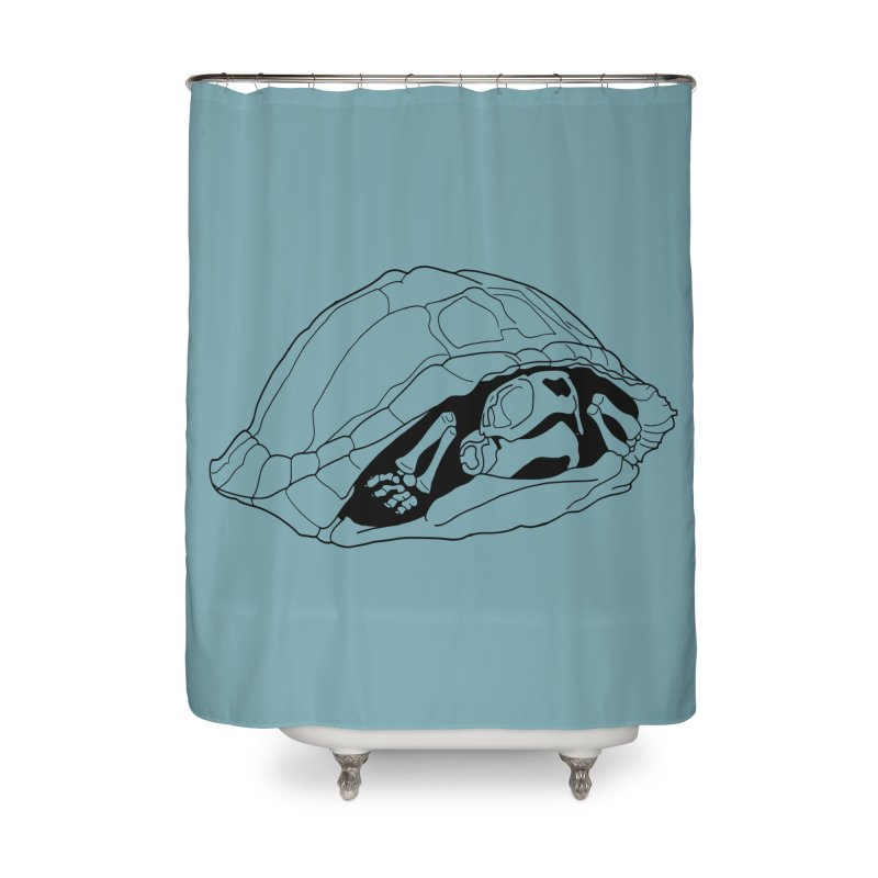 Box Turtle Skeleton Home Shower Curtain by rootinspirations's Artist Shop
