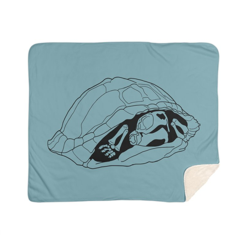 Box Turtle Skeleton Home Blanket by rootinspirations's Artist Shop