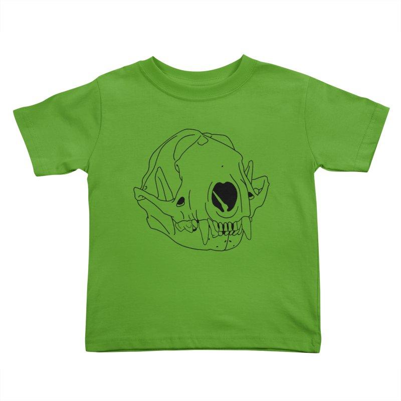 Skunk Skull Kids Toddler T-Shirt by rootinspirations's Artist Shop