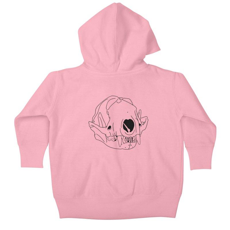 Skunk Skull Kids Baby Zip-Up Hoody by rootinspirations's Artist Shop
