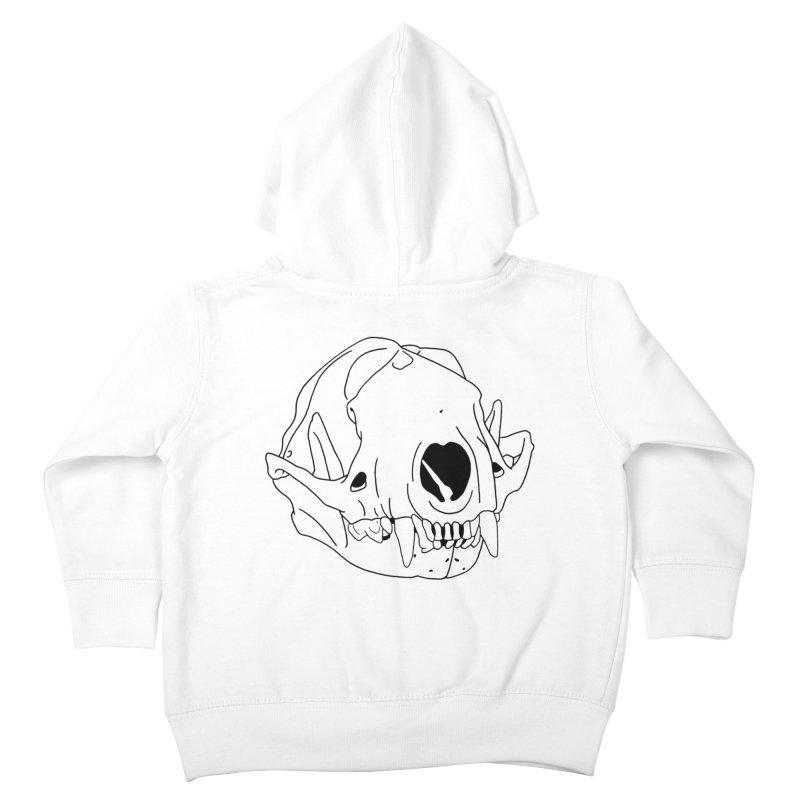 Skunk Skull Kids Toddler Zip-Up Hoody by rootinspirations's Artist Shop