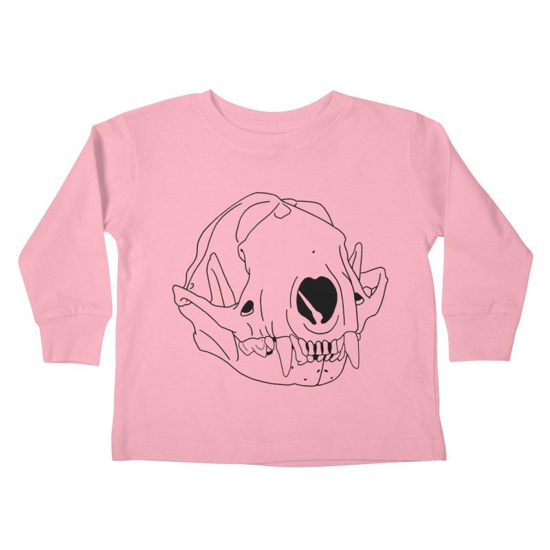 Skunk Skull Kids Toddler Longsleeve T-Shirt by rootinspirations's Artist Shop