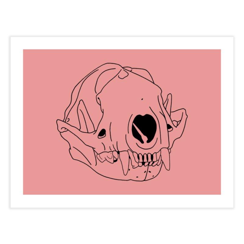 Skunk Skull Home Fine Art Print by rootinspirations's Artist Shop