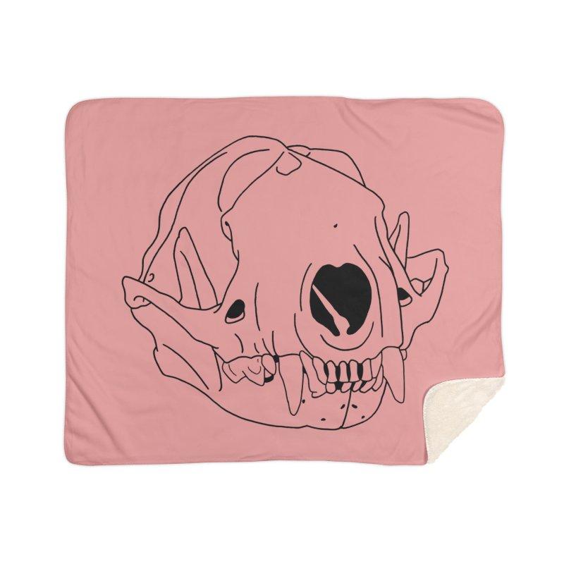 Skunk Skull Home Blanket by rootinspirations's Artist Shop