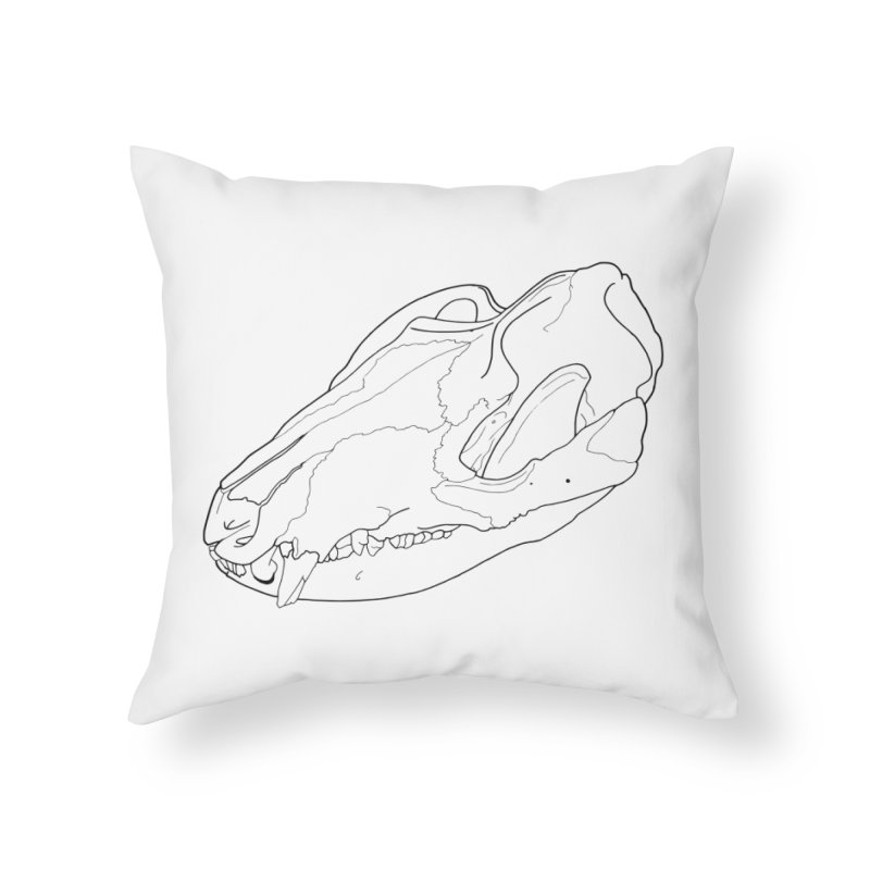 Opossum Skull Home Throw Pillow by rootinspirations's Artist Shop
