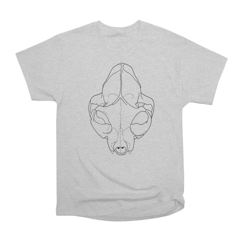 House Cat Skull, Top View Men's T-Shirt by rootinspirations's Artist Shop