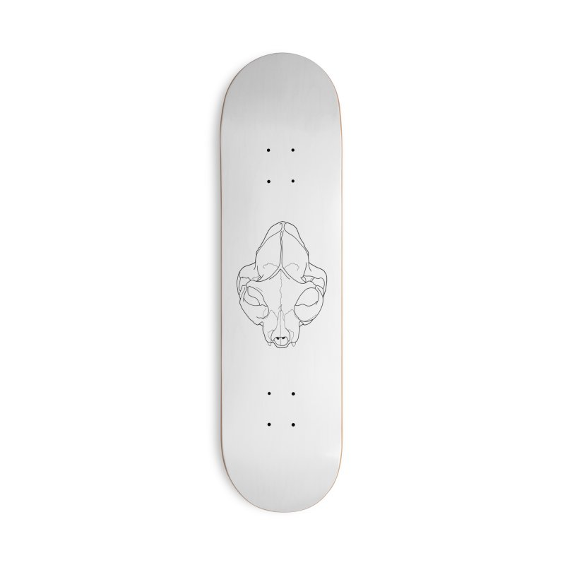 House Cat Skull, Top View Accessories Skateboard by rootinspirations's Artist Shop