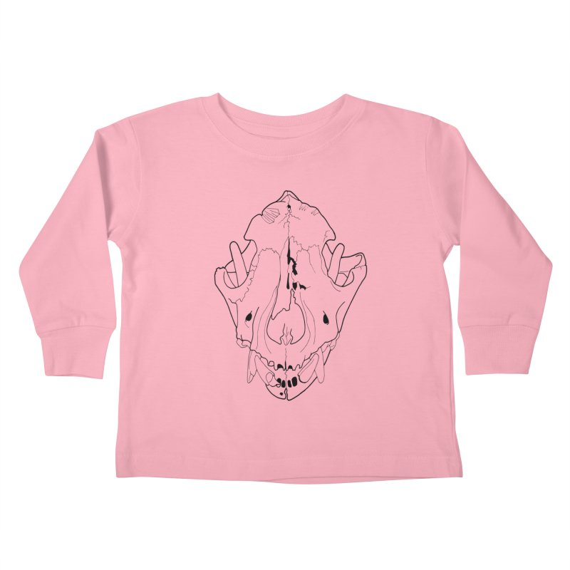 Domestic Dog Skull Kids Toddler Longsleeve T-Shirt by rootinspirations's Artist Shop