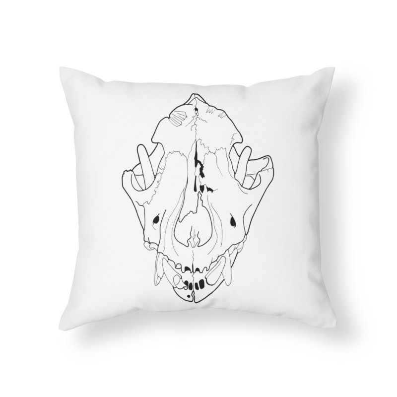 Domestic Dog Skull Home Throw Pillow by rootinspirations's Artist Shop
