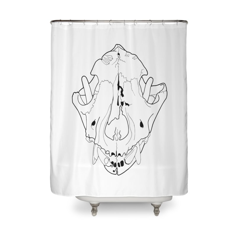 Domestic Dog Skull Home Shower Curtain by rootinspirations's Artist Shop