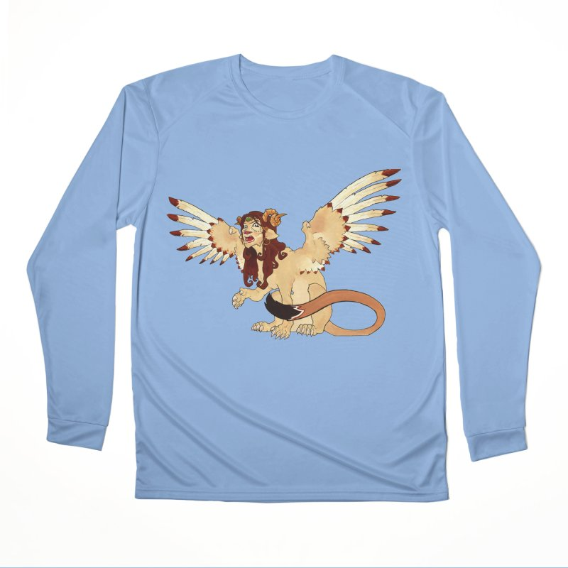 Sphynx Goddess woman lion eagle mythical creation Men's Longsleeve T-Shirt by rootinspirations's Artist Shop