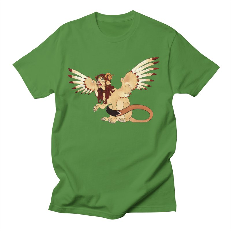 Sphynx Goddess woman lion eagle mythical creation Men's T-Shirt by rootinspirations's Artist Shop