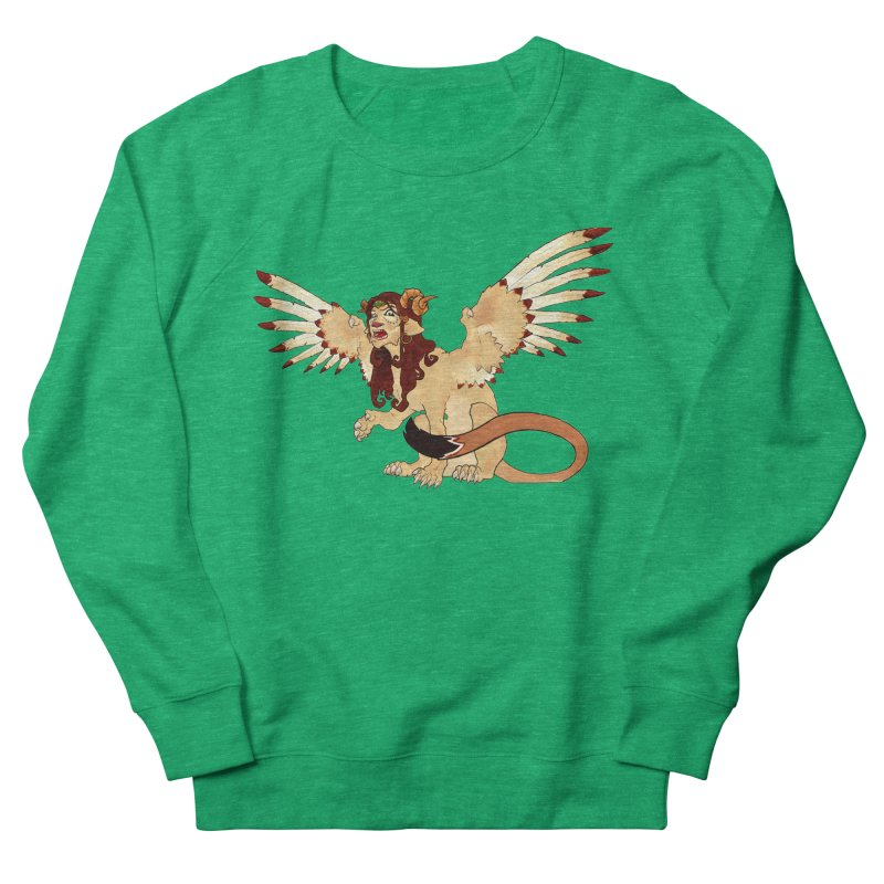 Sphynx Goddess woman lion eagle mythical creation Women's Sweatshirt by rootinspirations's Artist Shop