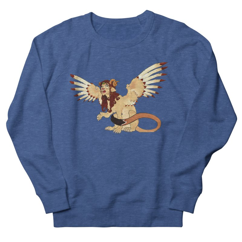Sphynx Goddess woman lion eagle mythical creation Men's Sweatshirt by rootinspirations's Artist Shop