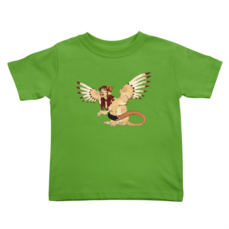 Sphynx Goddess woman lion eagle mythical creation Kids Toddler T-Shirt by rootinspirations's Artist Shop