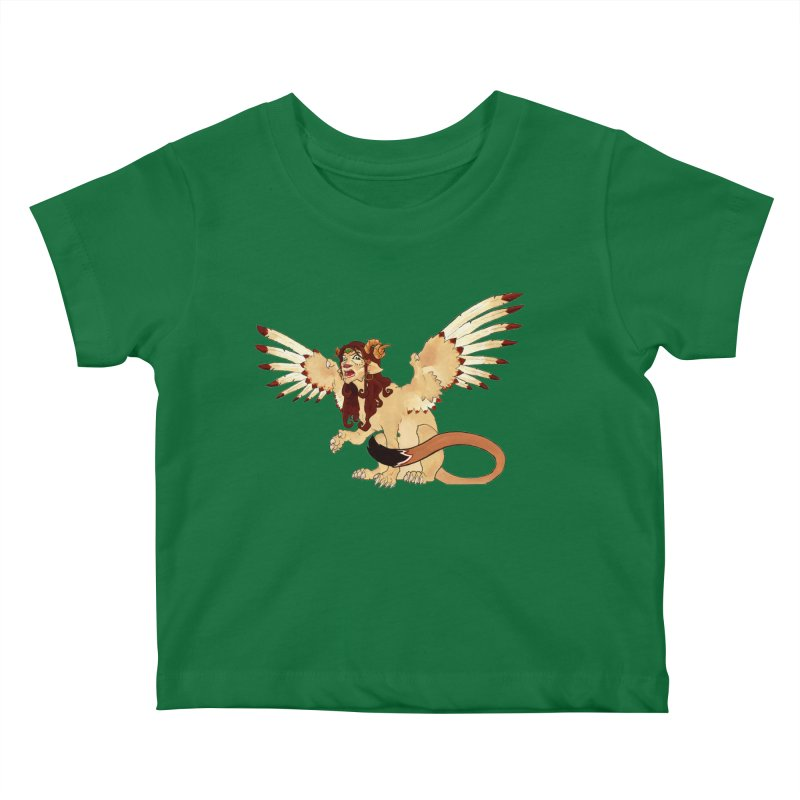 Sphynx Goddess woman lion eagle mythical creation Kids Baby T-Shirt by rootinspirations's Artist Shop