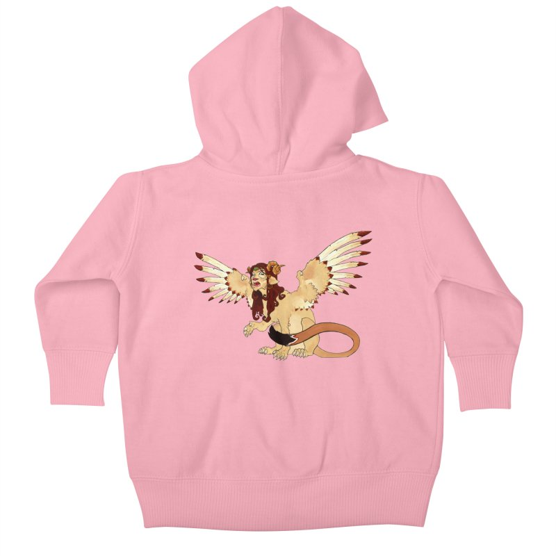 Sphynx Goddess woman lion eagle mythical creation Kids Baby Zip-Up Hoody by rootinspirations's Artist Shop