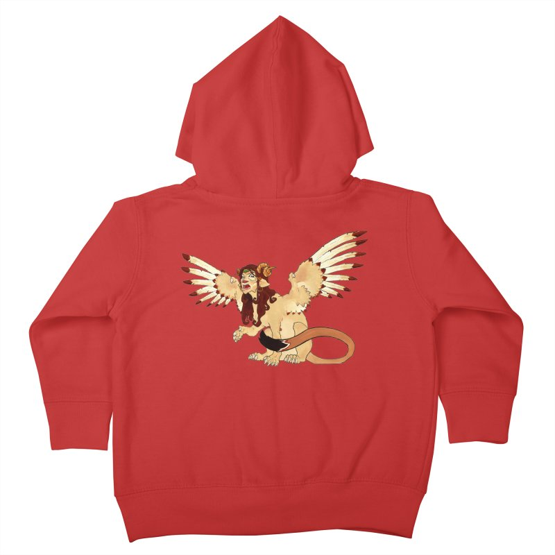 Sphynx Goddess woman lion eagle mythical creation Kids Toddler Zip-Up Hoody by rootinspirations's Artist Shop