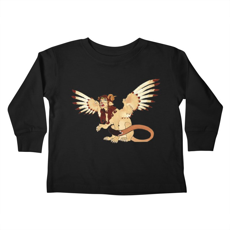 Sphynx Goddess woman lion eagle mythical creation Kids Toddler Longsleeve T-Shirt by rootinspirations's Artist Shop
